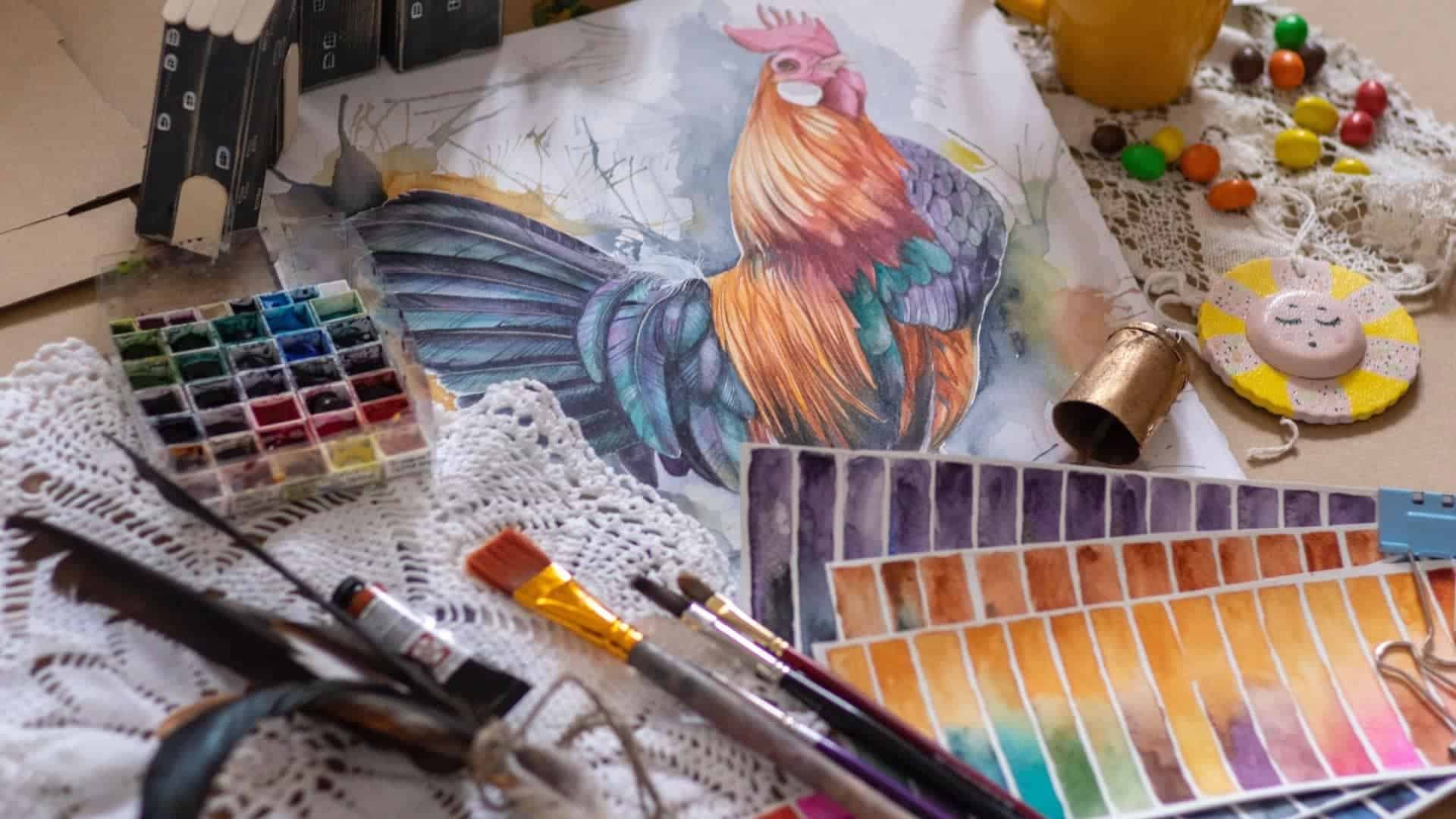 How to Paint on feathers