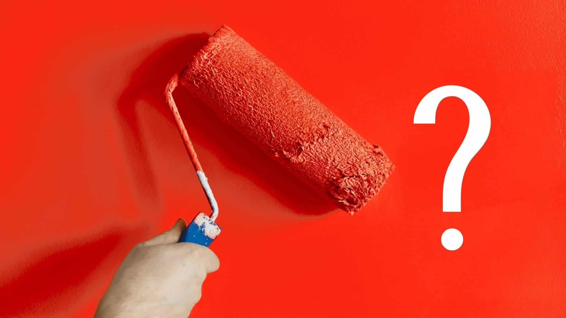 How to paint over red walls