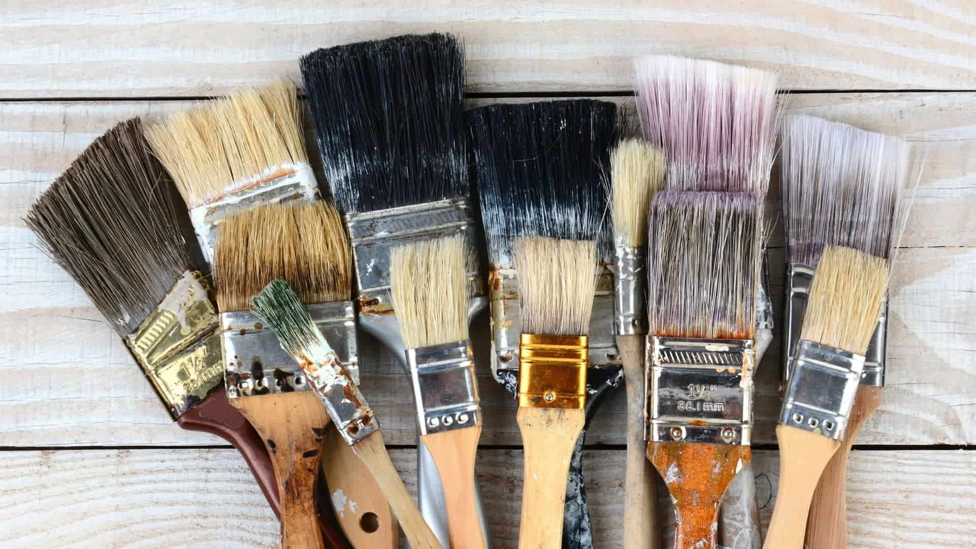 How To Use Paint Thinner To Clean Brushes