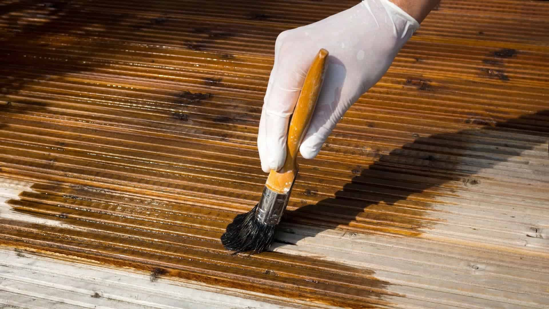 How To Paint The Peeling Deck